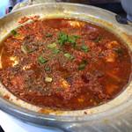 四川料理 品品香 - 正宗四川風麻婆豆腐ランチの麻婆豆腐激辛