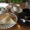 のがみ - 料理写真:ブレンドコーヒー410円とホットサンド(ポテト)を選択。茶碗蒸し、コーヒーゼリー、かっぱえびせんに〆は紅茶まで(^_^;)
