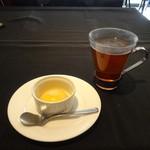 46036384 - マンゴープリン、お茶
