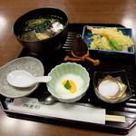四季彩 - 茶そばセット(1575円)2016年1月