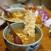 香川 - 料理写真:カレーうどんに海老天