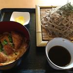月の湯 - ざる蕎麦とかつ丼セット 880円→10割蕎麦使用