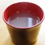 山県そば - 蕎麦湯