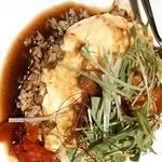 ベビーフェイスプラネッツ - 料理写真:チキンの照り焼きソースオムライス