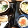 味の民芸  - 料理写真:左は年明け鍋焼きうどん(税込1,203円)・右は民芸鍋焼きセット(税込1,500円)