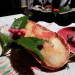 岡崎旅館 - 御鉢盛 牛とフォアグラ枝豆ソース&ロブスターの雲丹焼き