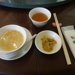 46073937 - スープ、ザーサイ、お茶