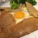 カフェ グリシンヌ - ガレットコンプレ (卵・ハム・チーズ)  テイクアウト可能です