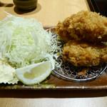 とんかつ 和幸 - 2015/12/23  牡蠣フライ  3個 630円