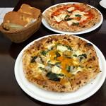 ピッツェリア ブル - ランチセットのピザ2種