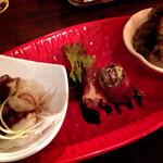 バルンバルン - 料理写真:おつまみ3品盛り合わせ(2015.12)