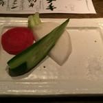 ここら屋 - お通しの野菜