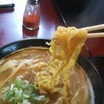 八味一心 - 麺を引き上げるとこんな感じです。(^^)