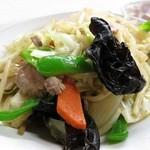 辰巳軒 - 肉入り野菜炒めアップですw