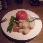 リビング バー - まるごとトマトのチーズフォンデュ♪