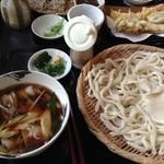 佳蕎庵 - 肉葱汁うどん780円の大盛り130円増し
