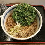 蕎麦一心たすけ - 天ぷらそば春菊(温)420円