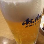 鶴橋ホルモン本舗 - ビール生中スーパードライ