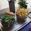 S.F.BURGERs - 料理写真:アジアンハーブバーガー ポークパティ フレンチフライ