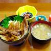 魚長亭 - 料理写真:松島産あなご丼 & あら汁