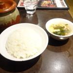 陳家私菜 赤坂一号店 湧の台所 - ライス、スープ
