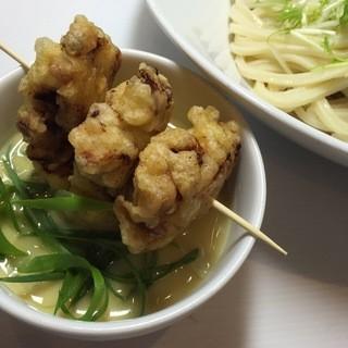 花雷 - 料理写真:1月限定つけ麺「とり天と揚げ餅の白味噌仕立て京の雑煮風」