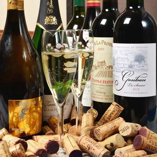 ①フランス産を中心に厳選したワインをたっぷり味わって下さい♪