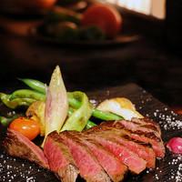 お肉よって焼き方を変える黒毛和牛赤身肉のステーキ