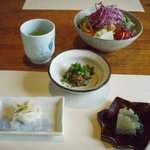 料庵 川瀬美 - 鴨味噌、酢の物等