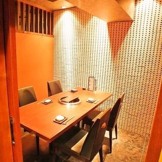 全席完全個室のプライベート空間、時間を気にしない贅沢なひと時