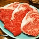 はり重 - お昼のすき焼きコース(お肉2人前)