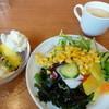 ビッグボーイダイニング - 料理写真:サラダ+コーヒー