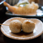 蕎麦貴石 - 蕎麦だんご(お昼のセット)
