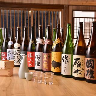 全国から厳選した日本酒を常時90本以上ご用意しています。