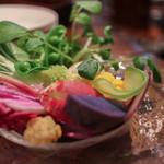 ガイーナ - 市橋農園オーガニック野菜のバーニャカウダ☆