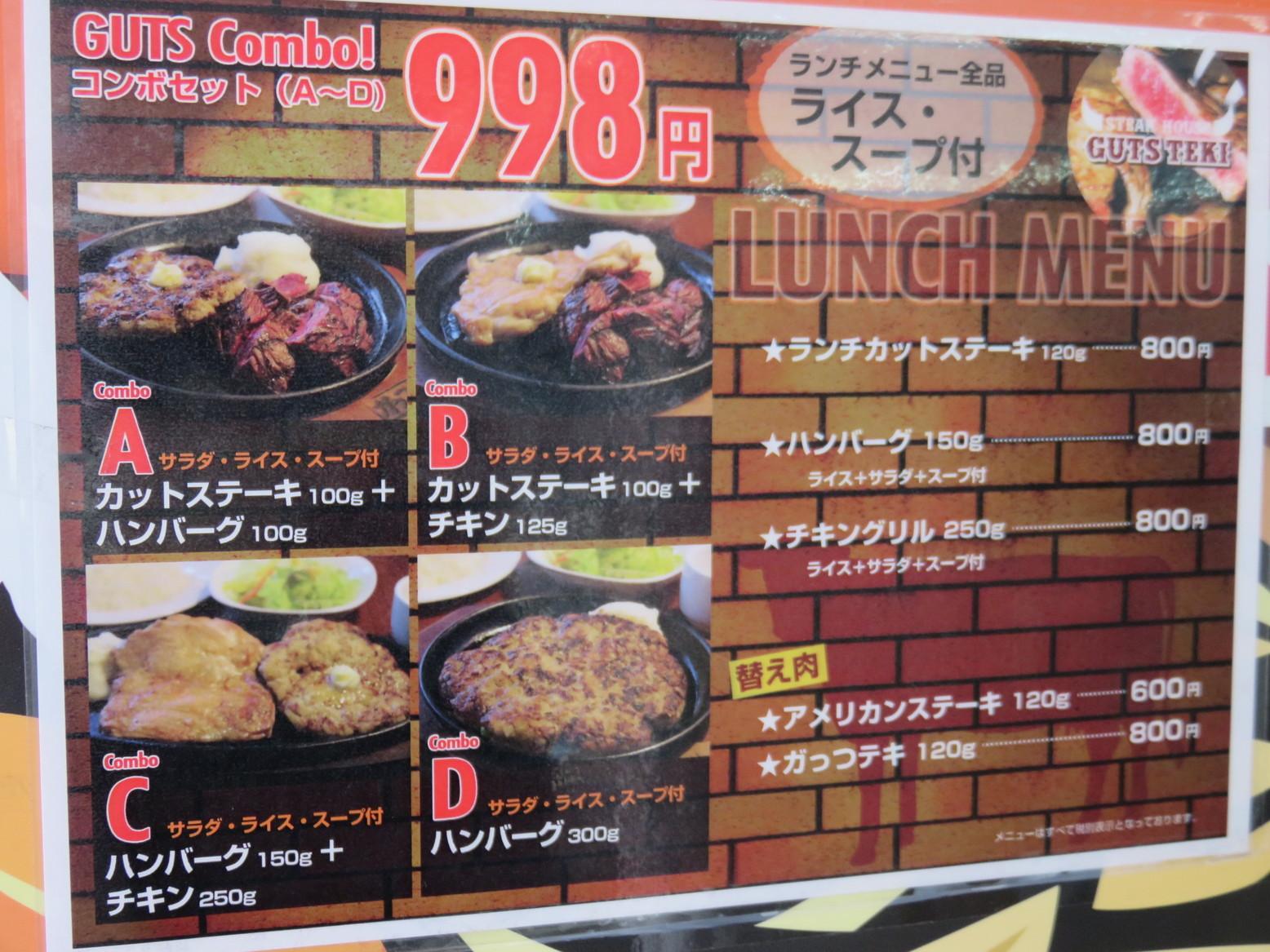 ステーキハウス ガッツ テキ 古川店