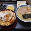 久美食堂 - 料理写真:カツ丼半ラーメン定食 1,000円