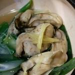 酒菜家 米人 - 牡蠣と白ネギの昆布蒸し