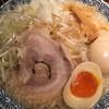 麺五郎 - 料理写真:背脂こってりらーめん+味玉+白髪ねぎ