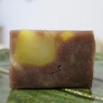 でかまん菓子舗 - 料理写真:栗むし羊羹断面アップ