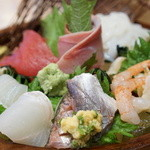 もりもり寿司 - 料理写真:刺し盛1300円 これはイイ感じ