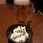 居酒屋はなまる亭 - お通し&ビール