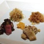 メゾン・ド・ユーロン - 塩くらげ、醤油くらげ、ローストビーフ、蒸し鶏