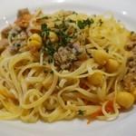 トラットリア テンポ ドーロ - 自家製サルシッチャとひよこ豆のフレッシュトマトソース 1,590円