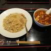 唐苑 - 料理写真:鶏肉ネギチャーハンと半麻婆麺1
