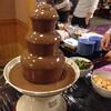 鹿の湯ホテル - 料理写真:チョコレートファウンテン ケーキやシュークリームを入れて食べました。 食後のデザートビュッフェです。