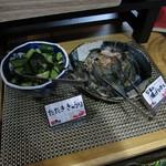 蟹奉行 - 料理写真:たたききゅうり・なすの揚げひたし
