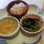 小福 - お通し。塩辛が美味しかった。