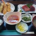 蔵 - 天ぷら定食(刺身付き)