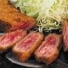 Gyuukatsuichinisan - 料理写真:1400円『牛ロースかつ 130グラム麦めしとろろセット』2016年1月吉日